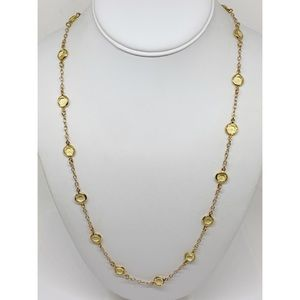 J. Crew Yellow Crystal Station Necklace